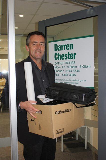 DARREN CHESTER HAS NEW ELECTORATE OFFICE ADDRESS