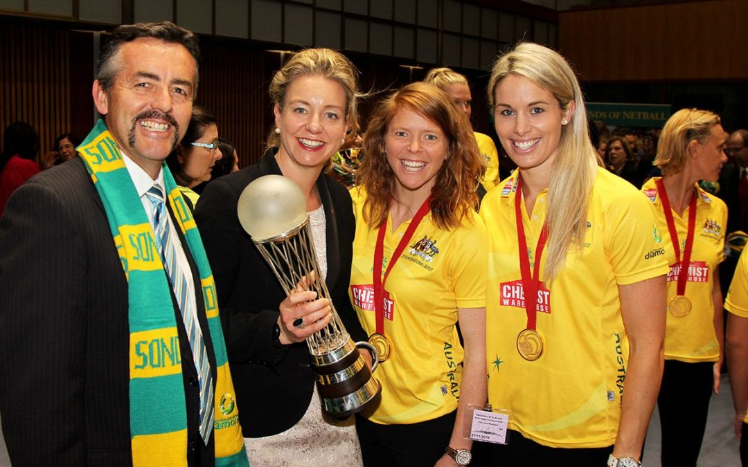 AUSTRALIAN NETBALLERS MAKE NEW FRIENDS IN PARLIAMENT