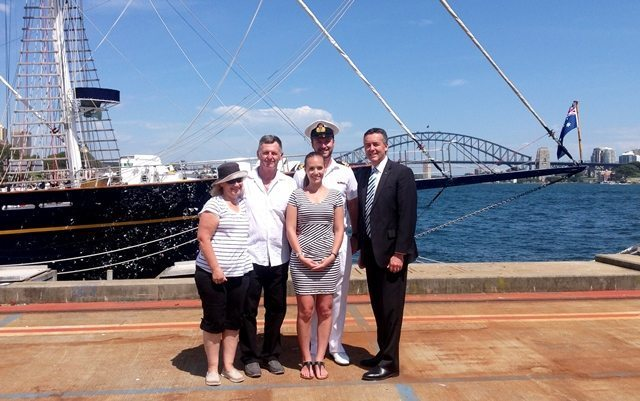 TRARALGON NAVY OFFICER SAILING THE SEAS WITH YOUNG ENDEAVOUR