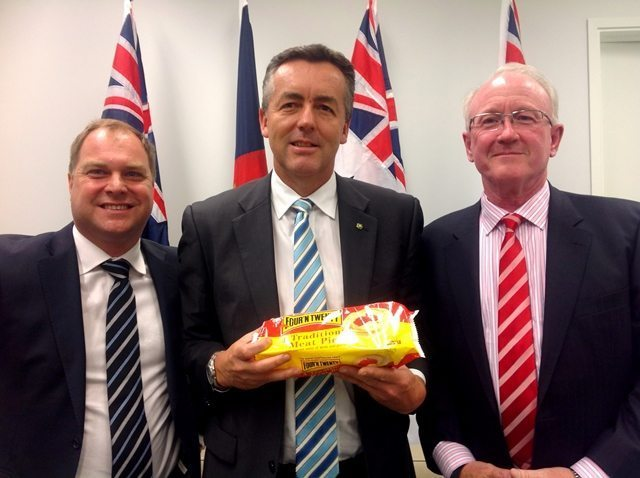 PATTIES FOODS EXECUTIVES IN CANBERRA TO MEET WITH GIPPSLAND MP