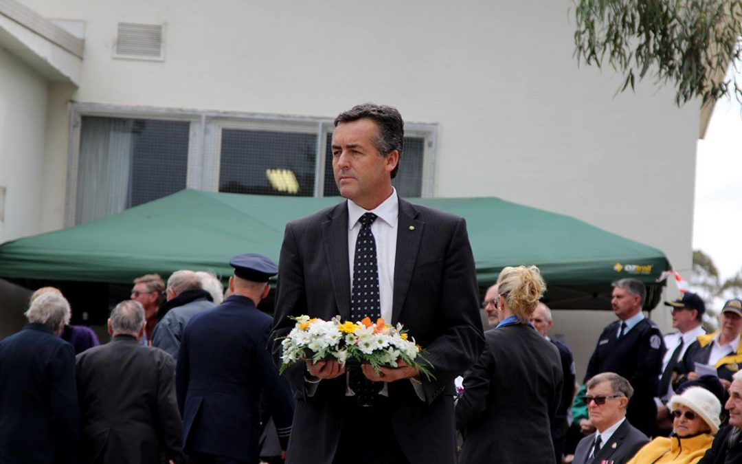 FEDERAL MP ENCOURAGES GIPPSLANDERS TO ATTEND AN ANZAC DAY SERVICE
