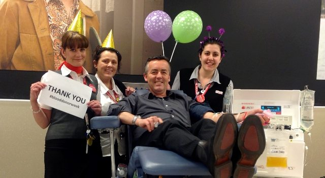 ROLL UP THE SLEEVES FOR NATIONAL BLOOD DONOR WEEK