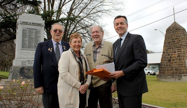 RSL CENOTAPH RESTORATION FUNDING SECURED