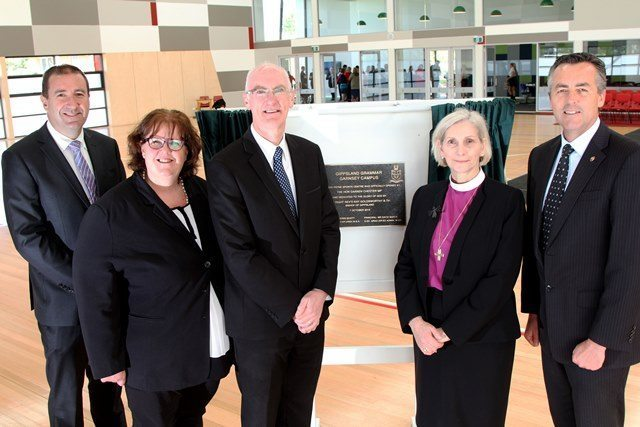 NEW MULTI-PURPOSE CENTRE OPENED AT GIPPSLAND GRAMMAR IN SALE