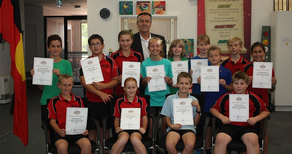 PRESENTATION OF LEADERSHIP CERTIFICATES AT STRATFORD PRIMARY SCHOOL