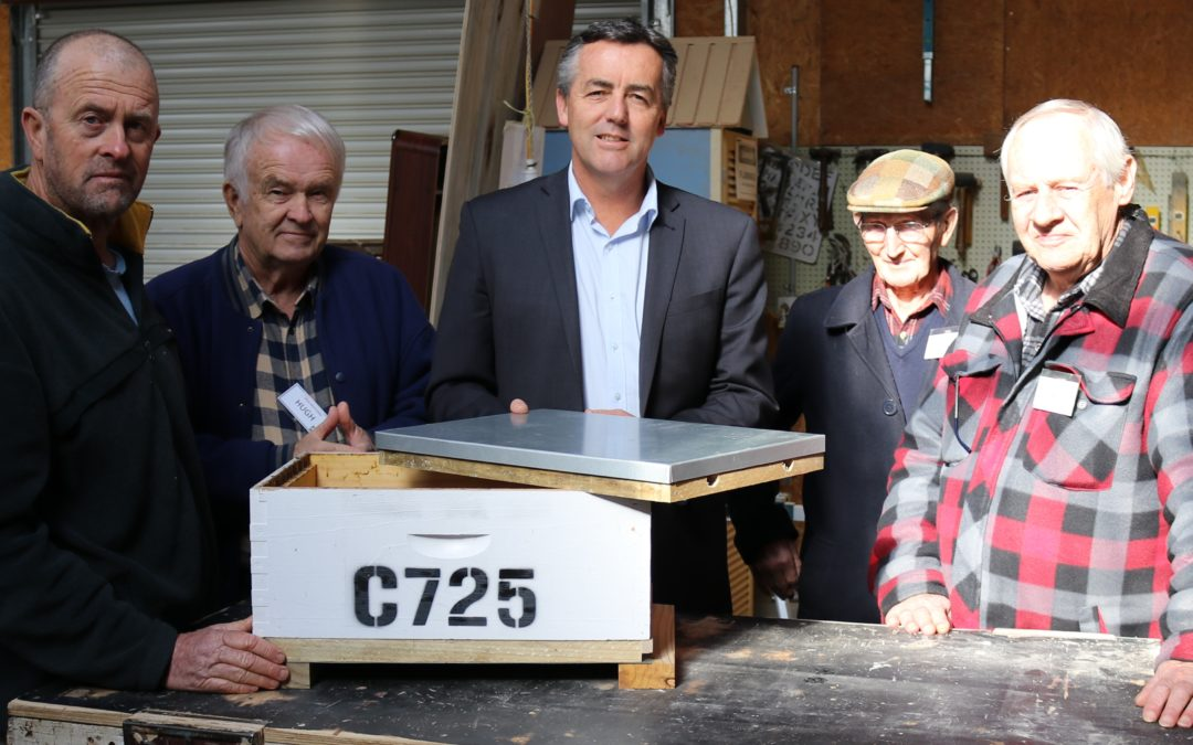 THREE LOCAL MEN'S SHEDS RECEIVE A HELPING HAND