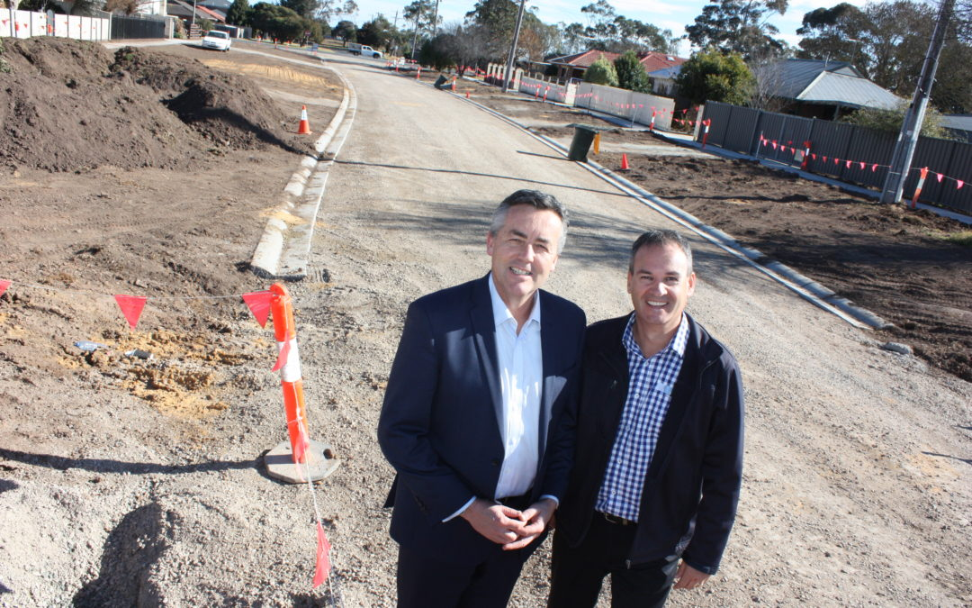 ROAD AND KERB UPGRADES IN PEARSON STREET, SALE