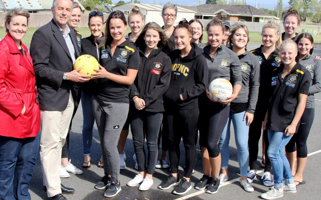 MORWELL NETBALL COURTS: AIMING FOR 2018 SEASON