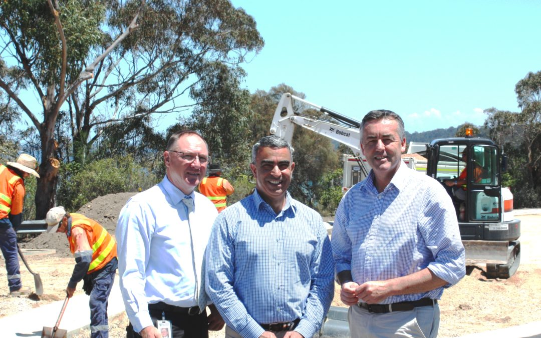 ROAD WORKS UNDERWAY AT LAKES ENTRANCE