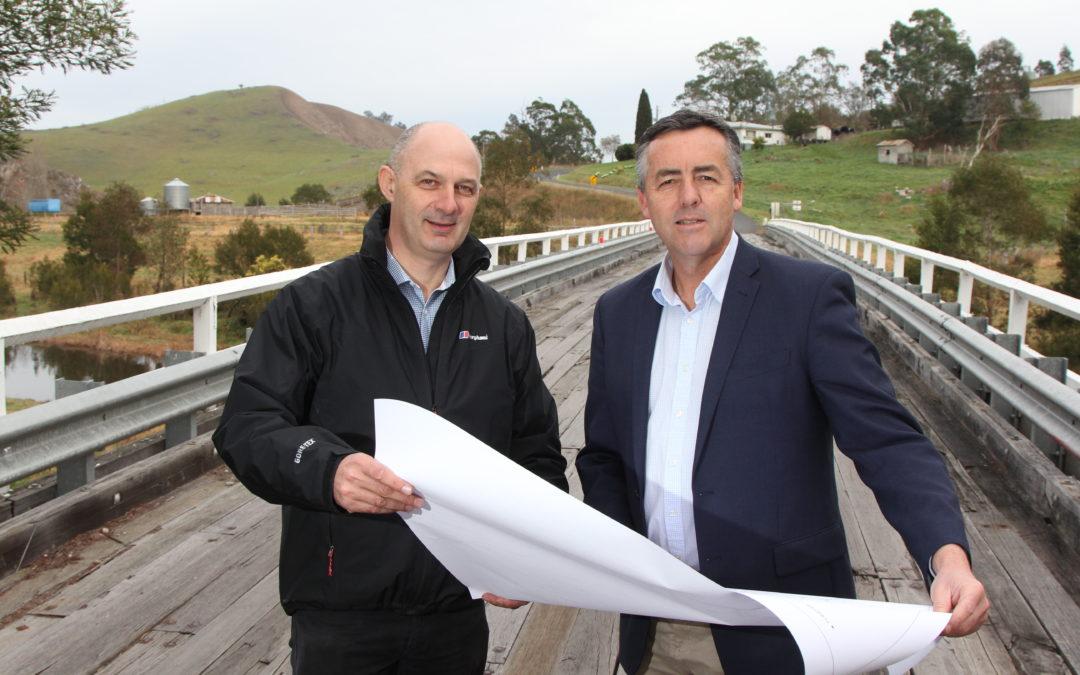 WORK BEGINS ON NEW BUCHAN RIVER BRIDGE