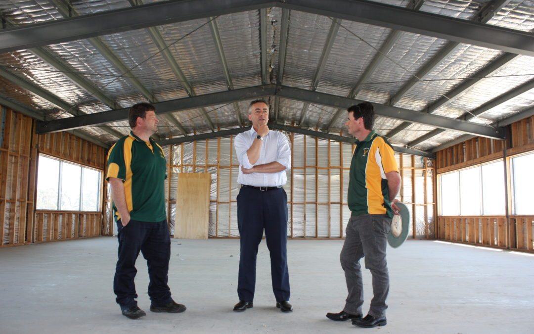 FUNDING SOUGHT FOR UNFINISHED SPORTS PAVILION