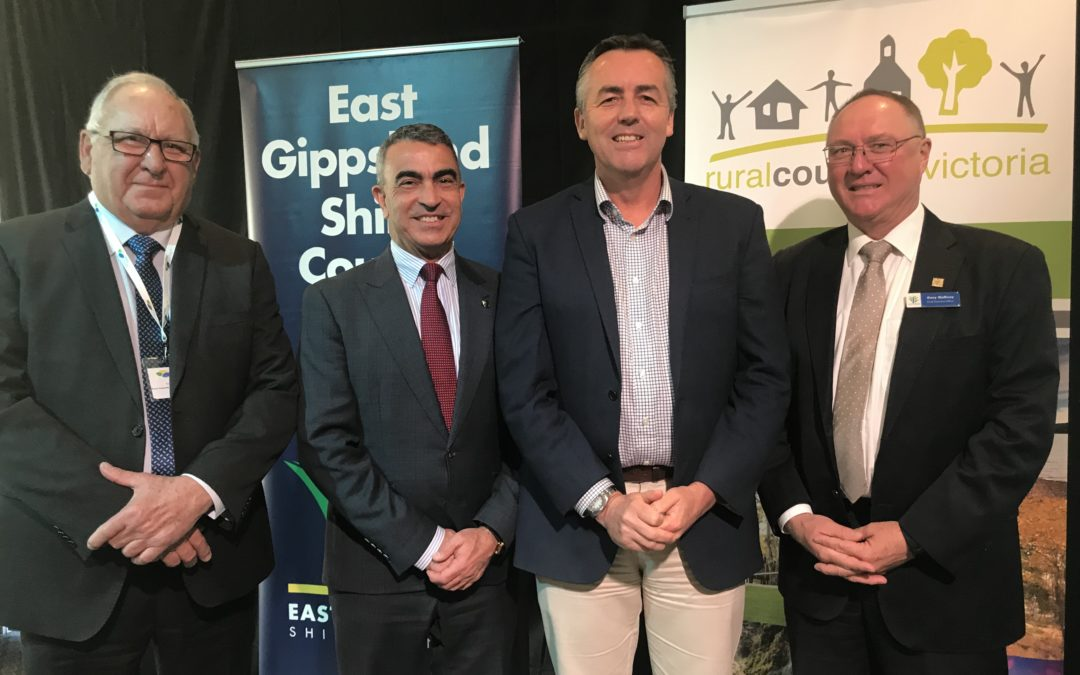 BE PERSISTENT, GIPPSLAND MP TELLS RURAL COUNCILS