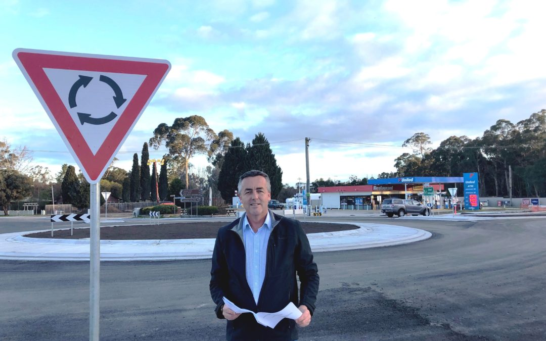 CANN RIVER ROUNDABOUT NEARLY FINISHED
