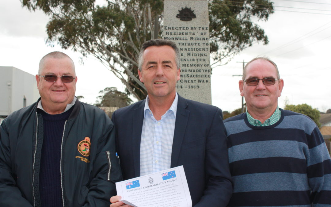 MORWELL REMEMBERS THE END OF THE GREAT WAR