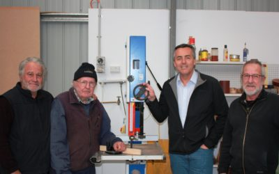 NEW TOOLS FOR TOONGABBIE MEN'S SHED