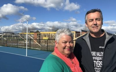MORWELL'S SHARED NETBALL AND CRICKET PAVILION NEARLY READY