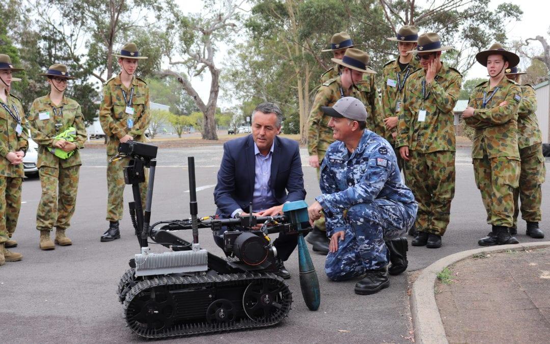 MINISTER FOR DEFENCE PERSONNEL VISITS RAAF CADETS AT RAAF BASE EAST SALE