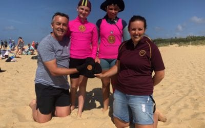 CHESTER DONATES HATS TO WOODSIDE BEACH NIPPERS