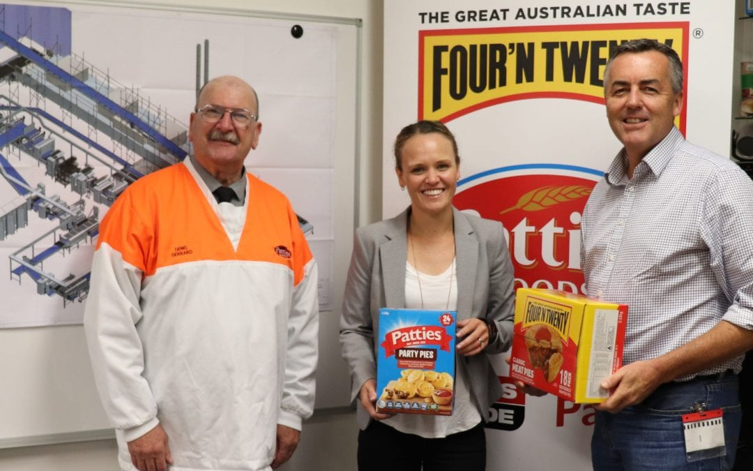 PATTIES FOODS' JAPAN EXPANSION GOOD FOR LOCAL JOBS, SAYS MP