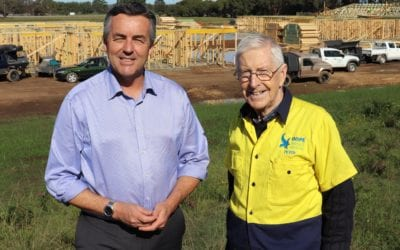 FRAME GOES UP AS HOPE CENTRE TAKES SHAPE