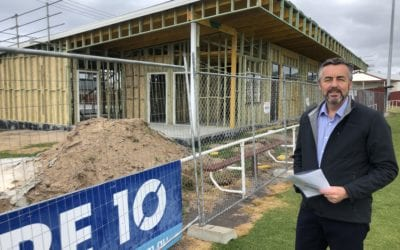 WORK BEGINS FOR LAKES ENTRANCE RECREATION RESERVE PAVILION AND CHANGE ROOMS