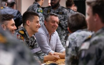 CHESTER THANKS HMAS CHOULES FOR HELP DURING BUSHFIRES