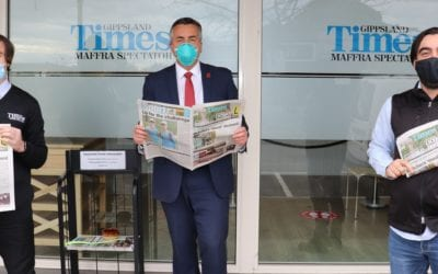 WELCOME SUPPORT FOR TWO GIPPSLAND NEWSPAPERS
