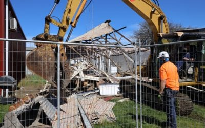 MAKING WAY FOR A NEW EXHIBITION SHED AT YARRAM SHOWGROUNDS