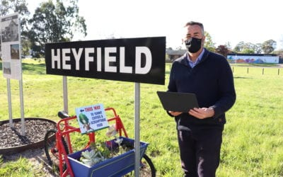 EXCITING DAY FOR HEYFIELD: PUMP TRACK CONSTRUCTION BEGINS