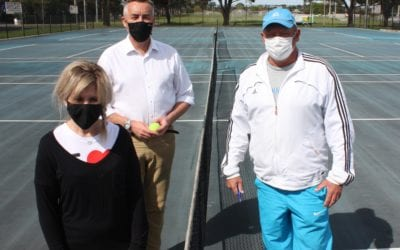 UPGRADED SURFACES FOR TRARALGON TENNIS COURTS