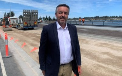 ESPLANADE IMPROVEMENTS TO BE FINISHED FOR CHRISTMAS