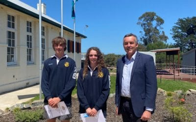 CHESTER VISITS ORBOST SECONDARY COLLEGE