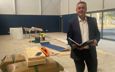 FLYNN RECREATION RESERVE WORKS NEARING COMPLETION