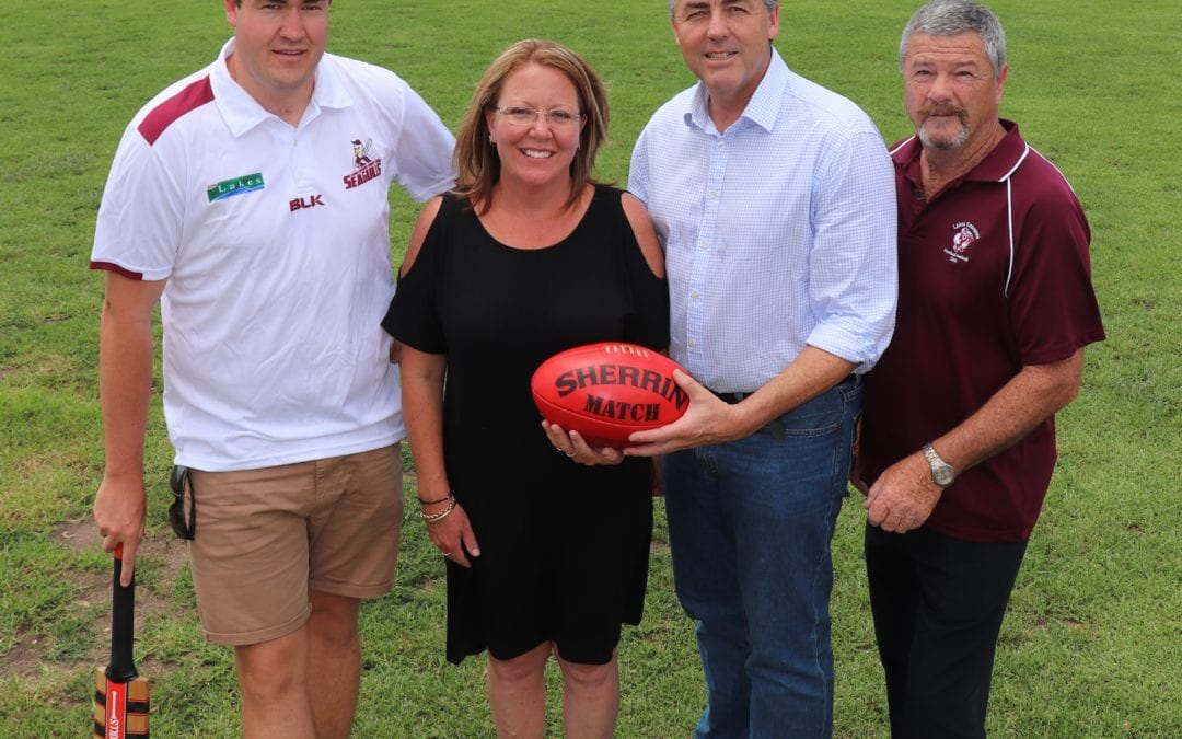 UPGRADES FOR LAKES ENTRANCE REC RESERVE